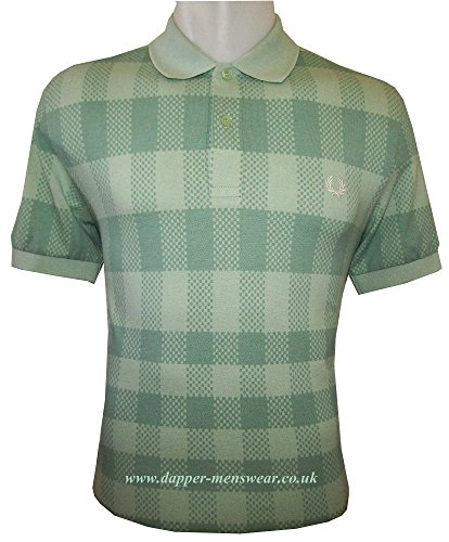 Fred Perry - Polo Vert Carre Homme - XXL, V