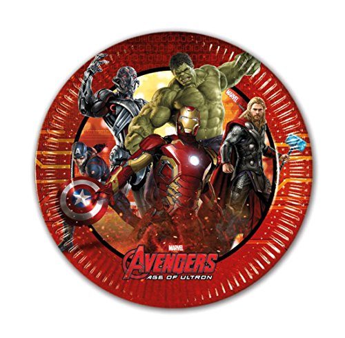 20 cm Avengers Age of Ultron Party Teller, 8 Stück (Marvels Avengers Party Supplies)