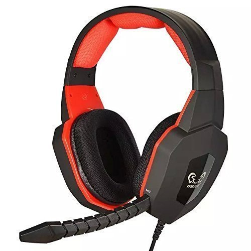 HUHD HG-939MV Stereo Sound Gaming Headset für PS4 / PS3 / Xbox 360 / PC (kompatibel mit Xbox One Konsole, wenn der Kunde Microsoft Adapter hat), abnehmbares Mikrofon, Rot - 80 Ps3 Konsole