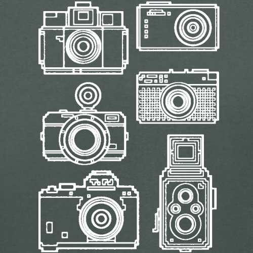 Vintage Cameras - Damen T-Shirt - 14 Farben Dunkelgrau