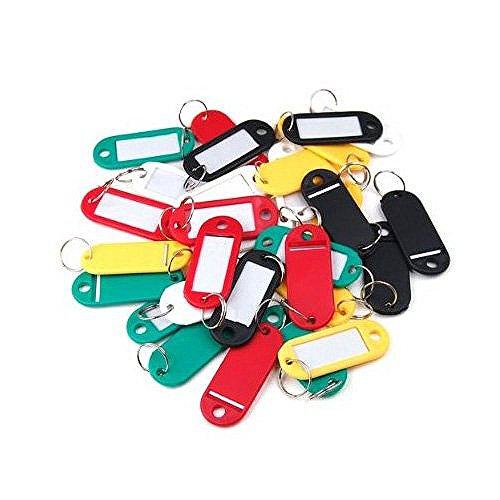 Sonline 30 ¡Á etiquettes colorees de porte-cles/en plastique/avec la carte de nom, ideal pour les utilisations nombreuses: trousseaux de cles, etiquettes de bagages, carte de memoire, etiquettes de