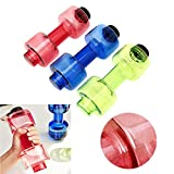 Getko Stylish Dumbbell Shaped Sport Water Cup Kettle Fit Drink Exercise Gym Bottle