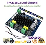 TECNOIOT TPA3116D2 Dual-Channel Stereo High Power Digital Audio Power Amplifier 2 * 120W