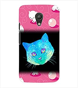 ColourCraft Cat Back Case Cover for MOTOROLA MOTO G2 XT1068