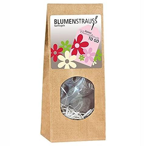 Kleiner Blumenstrauß to go - Blumenstrauß Saatkugeln Blumen zum selbst