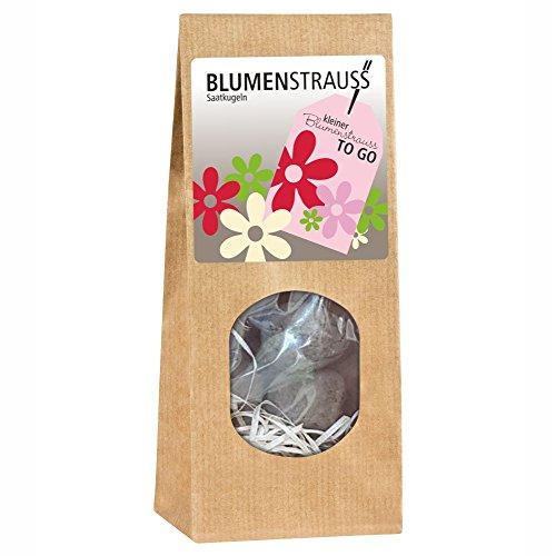 Kleiner Blumenstrauß to go - Blumenstrauß Saatkugeln Blumen zum selbst anpflanzen Blumensamen schönes Geschenk ausgefallen originell Garten