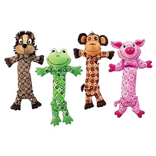 KONG Stretchezz Hundespielzeug, M: verschiedene Figuren (Schwein Hundespielzeug Kong)