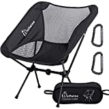 WolfWise Ultralight Portable Camping Chair, Compact Folding Backpacking Lounge Chairs for Outdoor Picnic