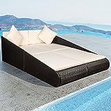 Polyrattan Gartenmöbel Sonnenliege Mykonos für 2 Personen