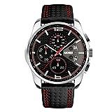 Montres Homme Multifonction Calendrier Chronometre Analogique Quartz Montres Bracelet...