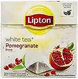 Lipton WEIßER TEE GRANATAPFEL Teebeutel - Versiegelt Kartons mit 6 x 20 beutel = 120 pyramiden...