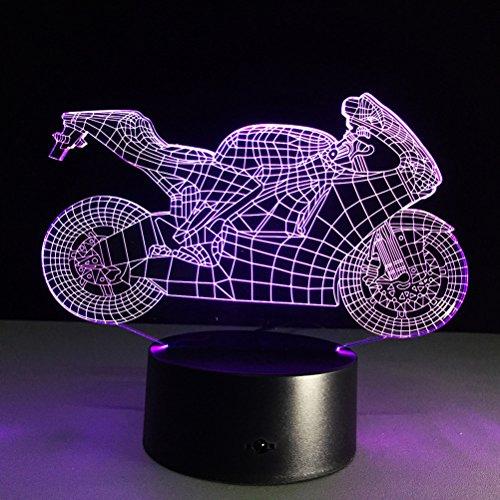 LEDMOMO 3D Lampe Nachtlicht Stimmungslicht Tischlampen Motorrad