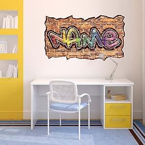 personalised graffiti wall art wall sticker amazon co uk graffiti wallpaper urban graffiti wallpaper next co uk