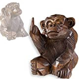Affe FUCK YOU mit Stinkefinger, aus Soar-Holz, verschiedene Größen, Größe:3