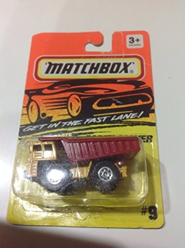 Matchbox Earth Mover Dump Truck Yellow/Red #9 by Tyco Toys (Dump Truck Red)
