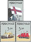 Dänemark-Färöer 200-202 (kompl.Ausg.) postfrisch 1990 50 Jahre Flagge der Färöer (Briefmarken für Sammler)