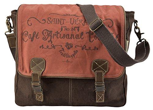 Sunsa Damen Herren große Messengertasche Umhängetasche Schultertasche Studententasche Laptoptasche Tablettasche Canvastasche Crossbody in retro Style