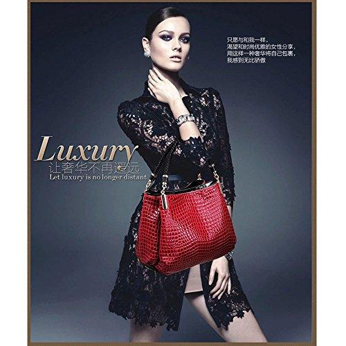 ZUNIYAMAMA Mode Leder Handtaschen Schultertasche für Frauen blau Blau