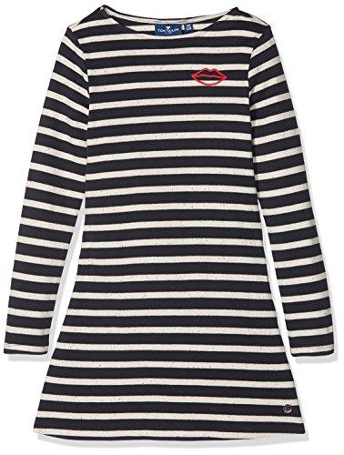 TOM TAILOR für Mädchen Kleider & Jumpsuits Gestreiftes Kleid real Navy Blue, 164
