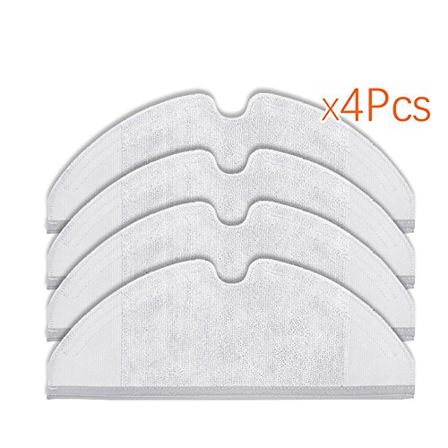 Price comparison product image Louu 4 Pieces of S50 S51 Robo Rock Mop Cloths for Xiaomi Vacuum Generator 2 Dry Wet Clean Cleaning