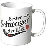 Wandkings® Tasse, Spruch: Bester Schwager der Welt - Weiß