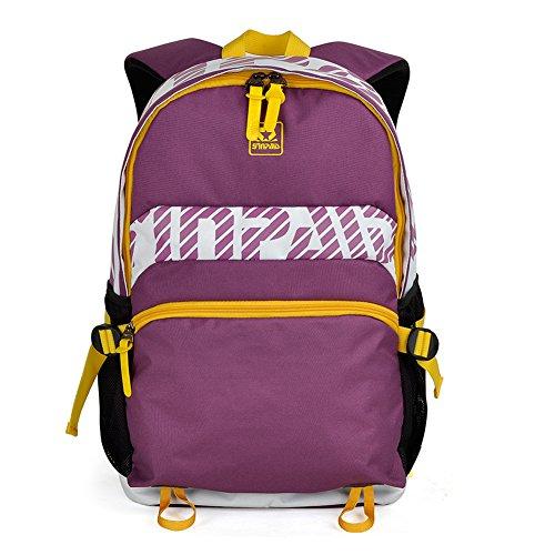 Outdoor peak studenti di nylon libro borsa scuola zaino ragazza Tempo libero pratica tracolla da viaggio sport trekking nero black purple