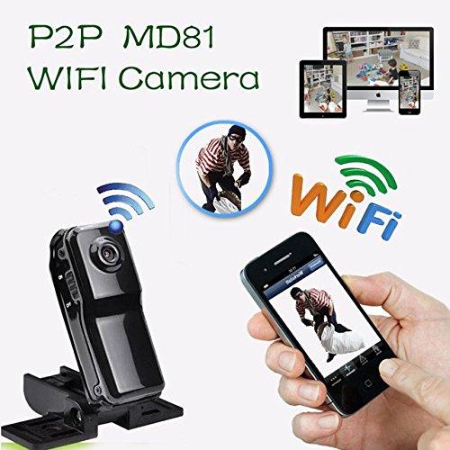 Electro-Weideworld - MD81 Mini cámara Portátil P2P Wifi IP Cámara Espia Mini DV de la red de Wifi Video de la videocámara para iPhone iPad Android App Review