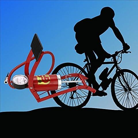 Hunpta à pied pour vélo Pneu Basketball Gonfleur de pompe à air Matelas Boule rapide, aléatoire