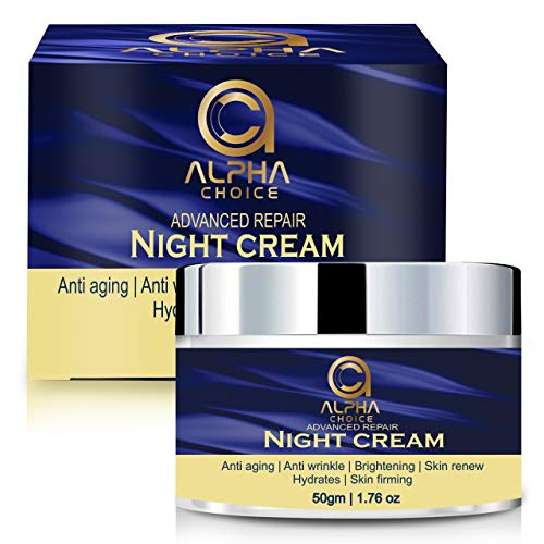 Buy ALPHA CHOICE Night Cream for women and men, Anti aging face Cream, Wrinkle dark spot reduction blemishes removal skin whitening-50 gm online in India at discounted price