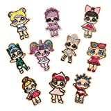 Mingjun - Lote de 10 parches bordados para coser o planchar con diseño de muñecas de LOL Surprise, para chaqueta, ropa, bolso, zapatos, gorras