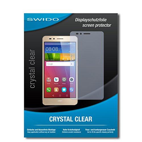 SWIDO Bildschirmschutzfolie für Huawei GR5 [3 Stück] Kristall-Klar, Extrem Kratzfest, Schutz vor Öl, Staub & Kratzer/Glasfolie, Bildschirmschutz, Schutzfolie, Panzerfolie
