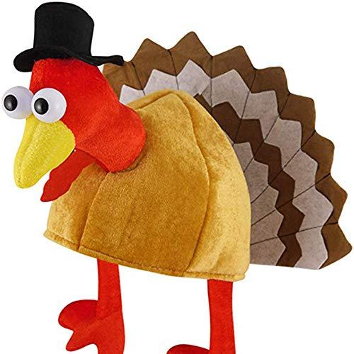 (SMILEQ Neuheit Weihnachten Mützen Halloween Hut Türkei Hut für Party Festival (One Size, C))