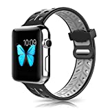 XIHAMA Band for Apple Watch, Silicone Breathable Replacement Strap Quick Release Wristband for iWatch 38mm 42mm Series 3, Series 2, Series 1