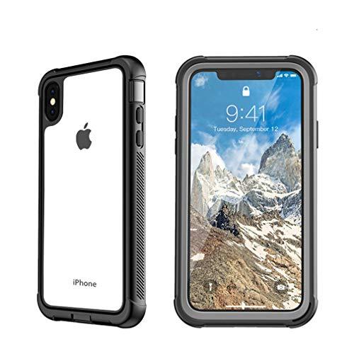 028bb19d16f ZTECH Funda para iPhone XS MAX, protección de Cuerpo Completo, Carcasa  rígida Transparente con Protector de Pantalla Integrado, a Prueba de caídas  y a ...