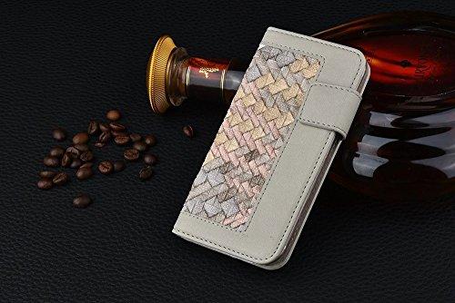 iPhone Case Cover Tissage Motif mixte Couleur PU Case-portefeuille en cuir Avec Cash Card slot stand Case pour Apple iPhone 6s ( PATTERN : F , Size : IPhone 6s ) E