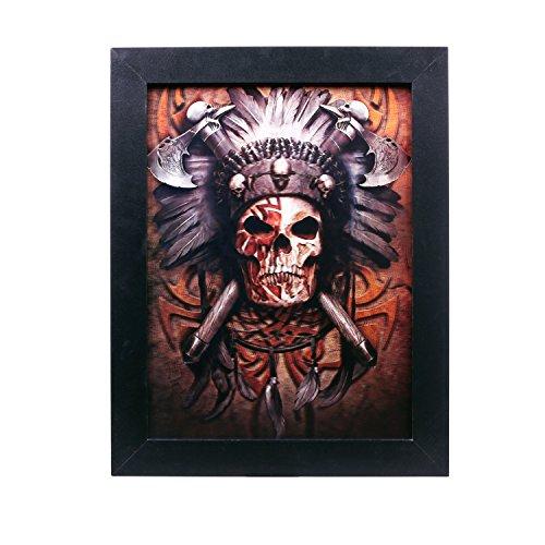 Zoelibat 97272814.008 Effektbild 3D, Wild West Zombie Vexierbilder, Deko Halloween, circa 36 x 46 cm