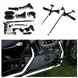 ETbotu Schwarz Fußrasten Vorwärts Control Kit für Harley Sportster XL 88312004814–1615