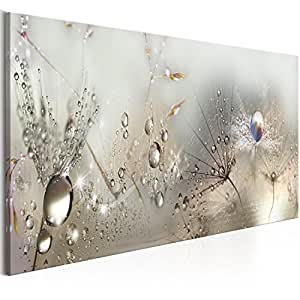 murando 120x40 cm - Quadro su fliselina - Stampa in qualita Fotografica - 1 Parte - Fiori Natura Grigio Soffione b-C-0169-b-b