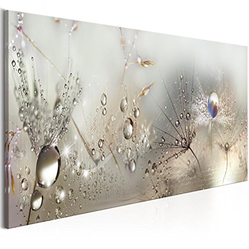 murando - Bilder Pusteblume 120x40 cm Vlies Leinwandbild 1 TLG Kunstdruck modern Wandbilder XXL Wanddekoration Design Wand Bild - Blumen Natur grau Pusteblumen b-C-0169-b-b