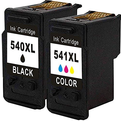 Preisvergleich Produktbild Inmax PG-540 XL & CL-541 XL 2er-Pack Remanufactured Druckerpatrone - Mit neuem Chip und anzeige von tinte volumen - Schwarz /Dreifarbig