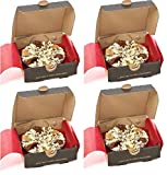 "Gourmet Chocolate Mini 4"" Pizza - Crunchy Munchy Chocolate Pizzas SET of 4"