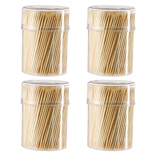 (Silley Zahnstocher aus Holz, 7 mm lang, 4 Boxen x 500 mm, ideal für Cocktails, Aperitif, Dekoration, etc.)