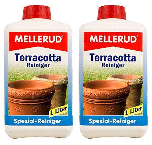 2x MELLERUD Terracotta Reiniger 1 L Set Ton Blumentöpfe Blumenkästen Blumenkübel