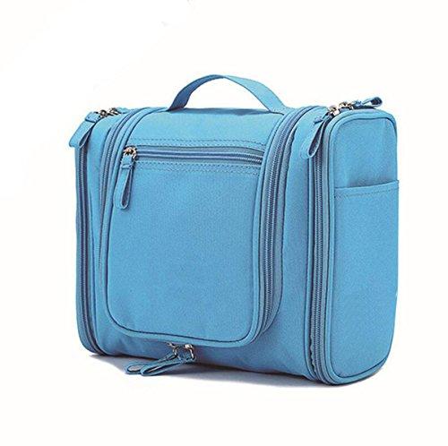 Sac Polyvalent Lavage à Haute Capacité Sac Portable De Lavage Voyage Sac étanche Cosmétiques,Blue