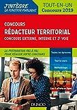 Concours Rédacteur territorial. Externe, interne et 3e voie. - Tout-en-un - Concours 2019 (J'intègre la Fonction Publique) - Format Kindle - 9782100786930 - 14,99 €