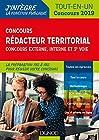 Concours Rédacteur territorial. Externe, interne et 3e voie. Tout-en-un - Concours 2019