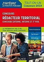 Concours Rédacteur territorial. Externe, interne et 3e voie. - Tout-en-un - Concours 2019 de Francis Pian