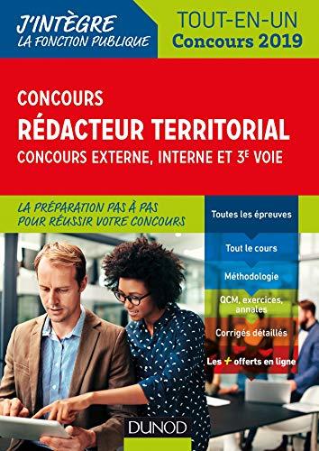 Concours Rédacteur territorial. Externe, interne et 3e voie. - Tout en un - Concours 2019: Tout-en-un - Concours 2019