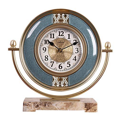 WXL Clock, Desktop Clock Mute Schlafzimmer Halterung Clock Nordic Home/Vintage Ornaments