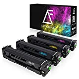 4 Alphafax Toner kompatibel zu HP CF400X CF401X CF402X CF403X 201X für Laserjet Pro MFP M277dw M277n M252dw M250 Series - 201X - Schwarz 2.800 Seiten, Color je 2.300 Seiten